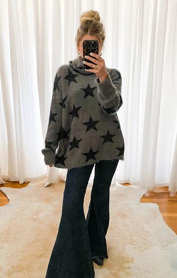Fatima Smokey Star Knit Turtleneck Sweater  (Show Me Your Mumu)