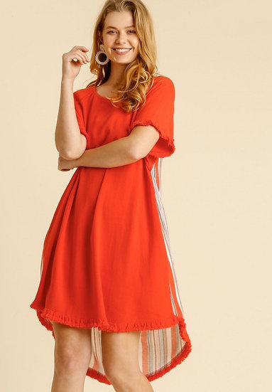 Tell Your Story Tomato Red Dress