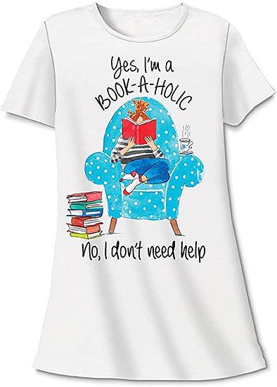 Yes I'm A Bookaholic Sleep Shirt