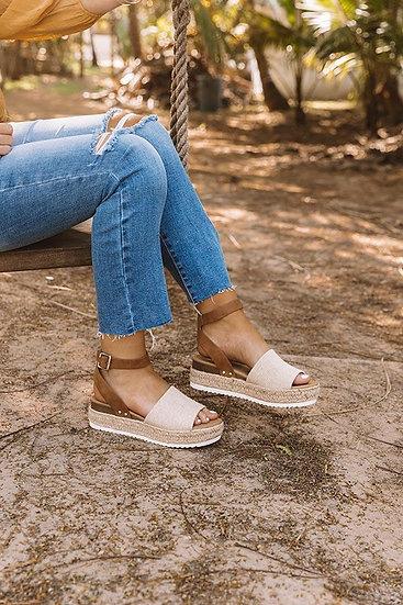 Vacay Canvas Platform Sandals