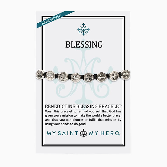 Benedictine Blessing Bracelet Silver Metals
