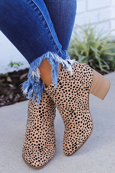 Cheetah Nat Wedge Bootie