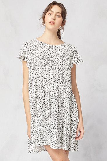 The Secret Garden Cream Floral Dress