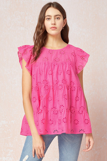 Sweet Dreams Blouse - Hot Pink