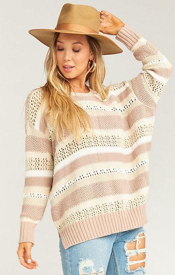 Yala Sweater - Sand Dune Stripe(Show Me Your Mumu)