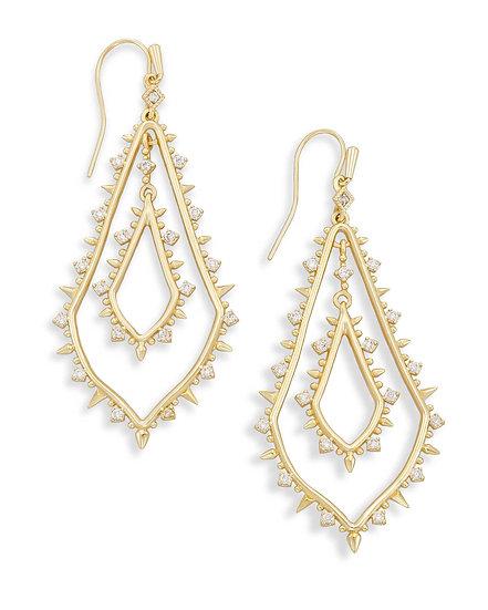Alice Drop Earrings In Gold