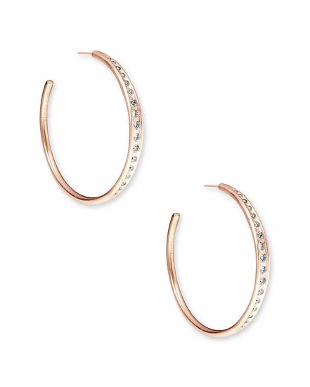 Selena Hoop Earrings In Rose Gold