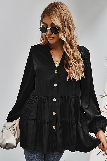 We All Know Black Blouse