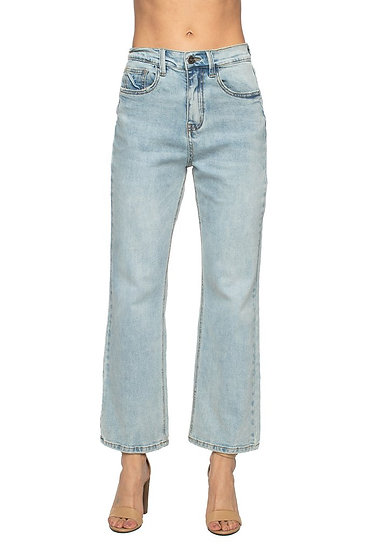 Lively Light Wash High-Waisted Mom Jean