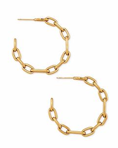 Ryder Hoop Earrings In Vintage Gold