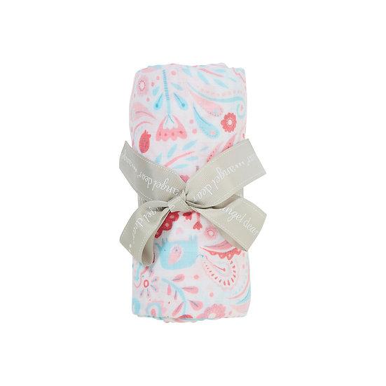 Elephant Paisley Swaddle Blanket