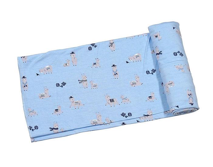 Llama Swaddle Blanket