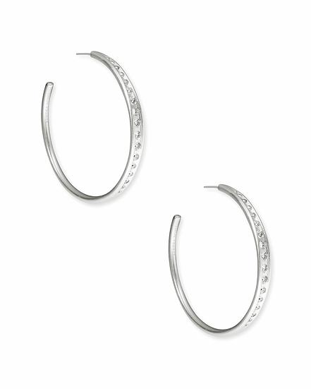 Selena Hoop Earrings In Silver
