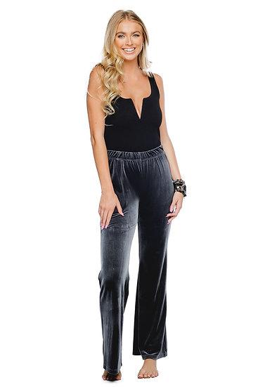 Tyra Charcoal Velvet Pants