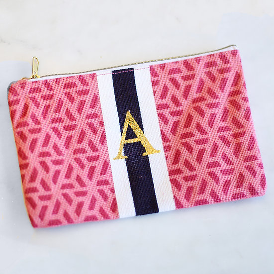 Lilah Initial Cosmetic Pouch
