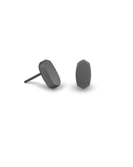 Barrett Stud Earrings In Gunmetal