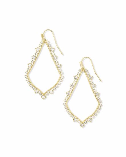 Sophee Crystal Drop Earrings In Gold