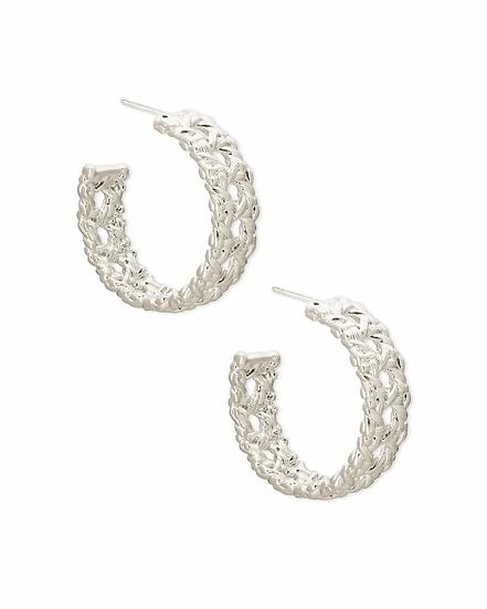 Natalie Silver Hoop Earrings In Silver