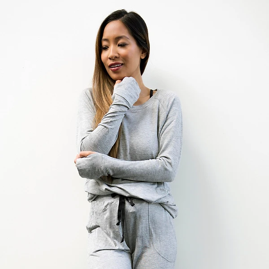 The Weekender Long Sleeve Top - Grey