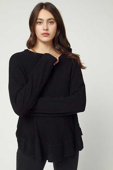 On Many Occasions Knit Top - Black