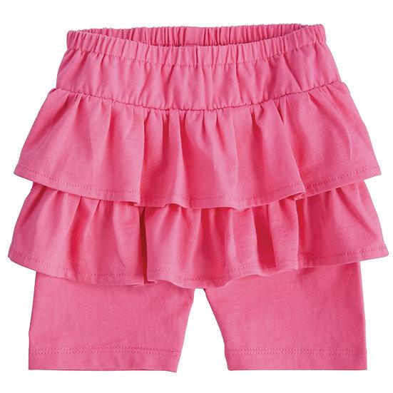 Pink Ruffle Skirted Shorts