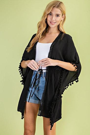 All You Can Do Black Kimono
