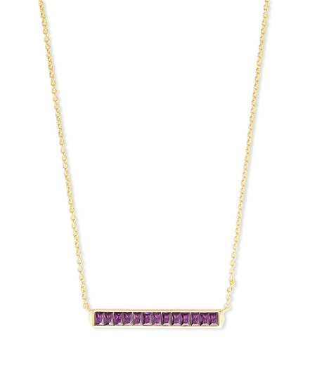 Jack Gold Pendant Necklace In Purple Crystal