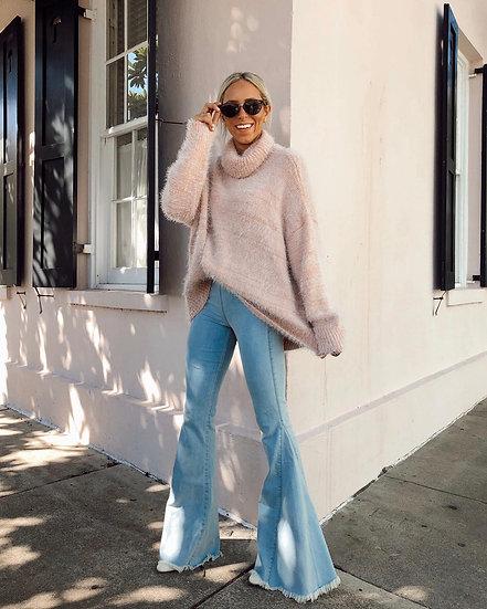 Fatima Fuzzy Knit Sweater - Pink (Show Me Your Mumu)