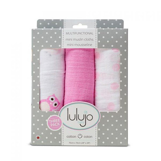Mini Muslin Cotton Cloths – Pretty in Pink
