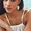 Thumbnail: Threaded Elle Gold Drop Earrings In Mint Magnesite