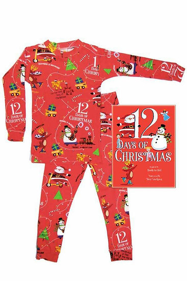 Books To Bed 12 Days of Christmas Boy Pajama Set
