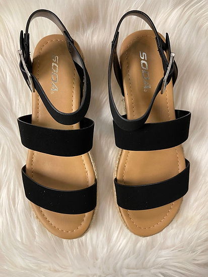 The Larissa Platform Sandals In Black
