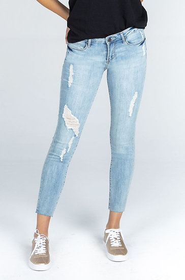 Carly Crop Distressed Skinny Jean - Light Blue (Articles of Society)