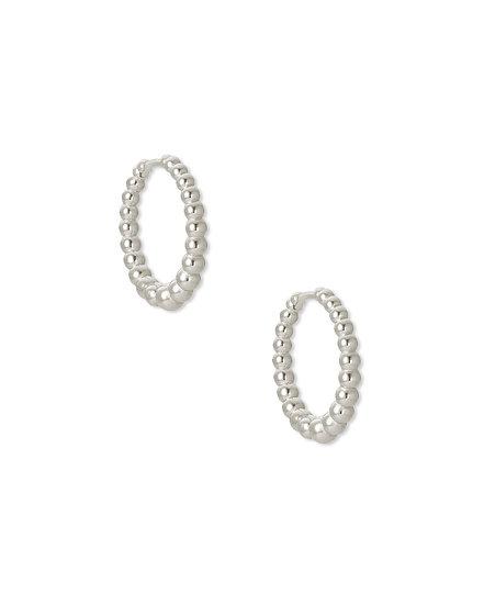 Josie Huggie Earring Rhodium Metal