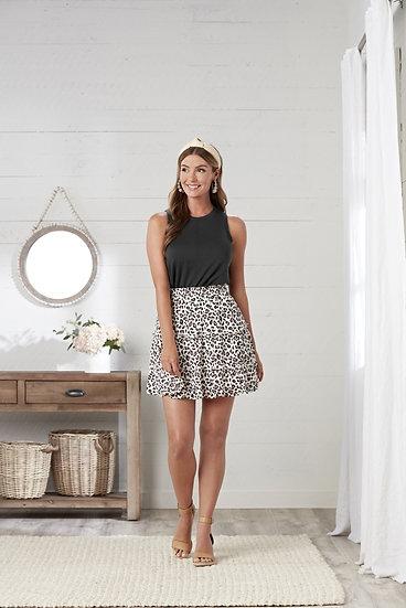 Susie Leopard  Flounce Skirt