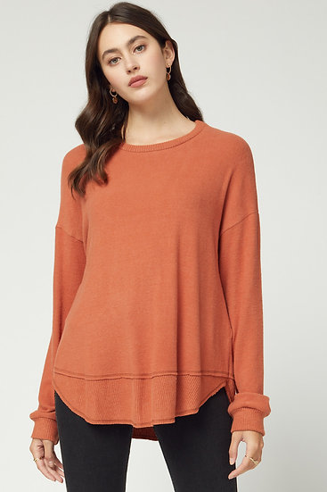 On Many Occasions Knit Top - Rust