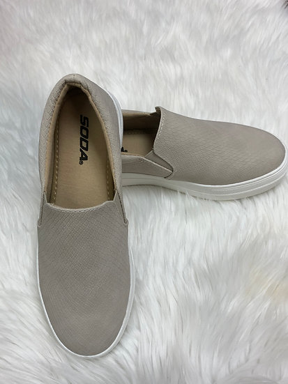 This Is it Tan Platform Sneakers