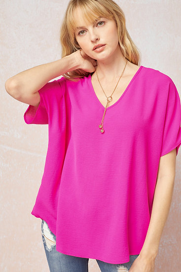 Don't Wait Classic Top - Hot Pink