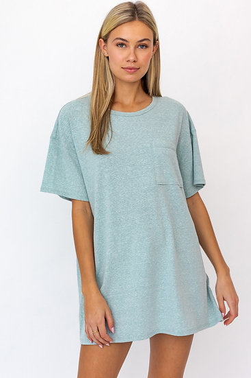 On Your Time Mint Oversized Top
