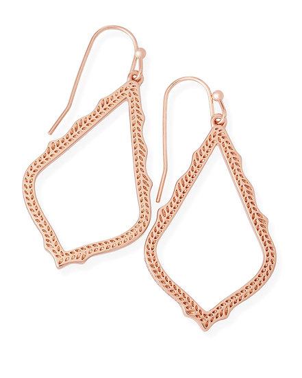 Sophia Drop Earrings In Rose Gold
