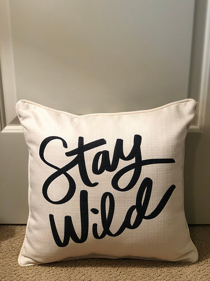 Stay Wild - Cheetah Print Back Pillow