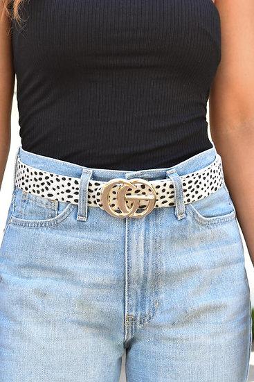 Everyday Belt - White Leopard