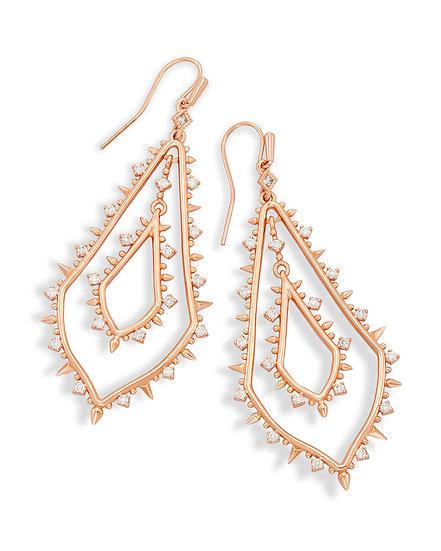 Alice Drop Earrings In Rose Gold