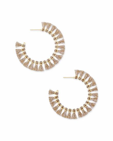 Evie Gold Hoop Earrings In Gold