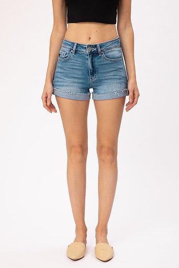 Hazel High Rise Cuffed Shorts (Kancan)