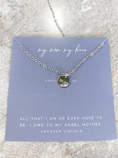 My Mom My Hero Necklace