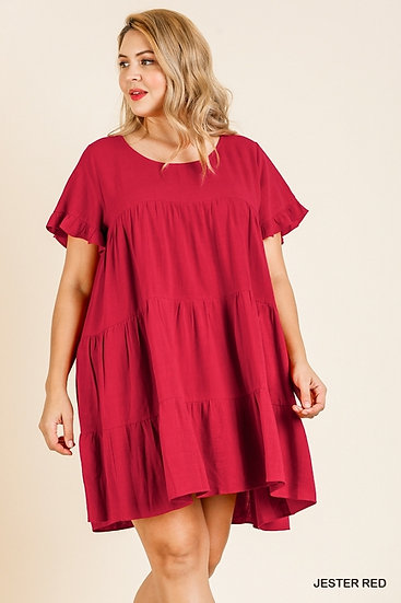 All That Ruffles Red Dress