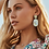 Thumbnail: Parsons Bright Silver Statement Earrings In Iridescent Abalone