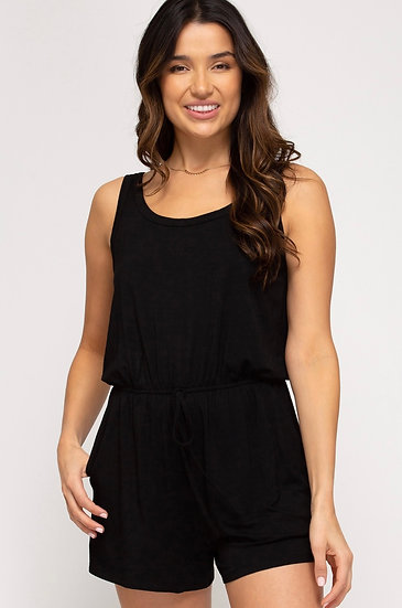 Do Anything For You Black Romper