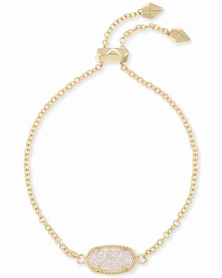 Elaina Gold Adjustable Chain Bracelet In Iridescent Drusy